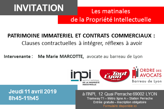 Matinale INPI : save the date!